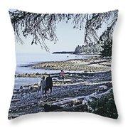Kitty Colemans Beach - Bc Throw Pillow