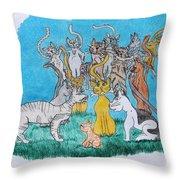Kitty Confusion Throw Pillow