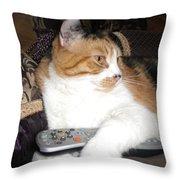 Kitty Control Throw Pillow