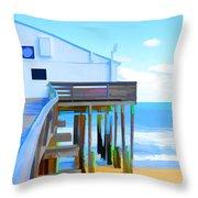 Kitty Hawk Pier 2 Throw Pillow