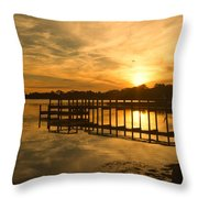 Kitty Hawk Sunset 2 Throw Pillow