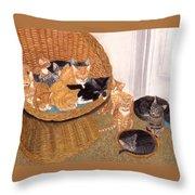 Kitty Litter I Throw Pillow