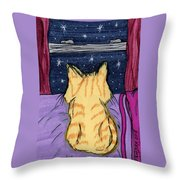 Kitty Loaf Throw Pillow