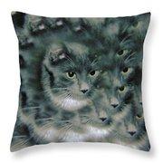 Kitty Portrait  Throw Pillow