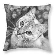 Kitty The Cat Throw Pillow