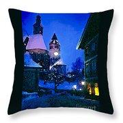 Kitzbuhl At Night-4 Throw Pillow