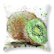Kiwi 2 Throw Pillow
