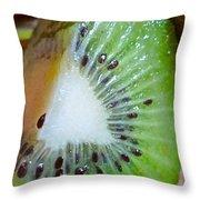 Kiwi Seed Display Throw Pillow