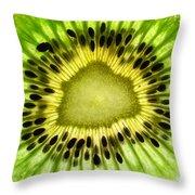 Kiwi Up Close Throw Pillow