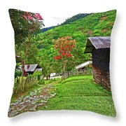 Kiwi Village Of Papua Throw Pillow