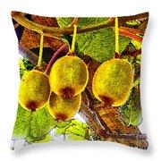 Kiwis In Kiwiland Throw Pillow