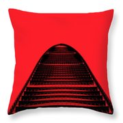 Kk100 Shenzhen Skyscraper Art Red Throw Pillow