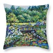 Klehm's Lily Pond II Throw Pillow