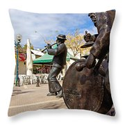 Kleizmer Band In Bronze Throw Pillow