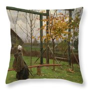Klever, Yuli The Younger 1882-1942 Autumn Twilight Throw Pillow