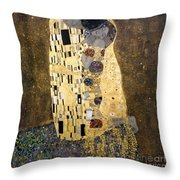 Klimt: The Kiss, 1907-08 Throw Pillow