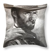 Klint Eastwood Throw Pillow
