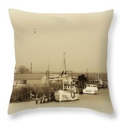 Knapps Narrows Tilghman Island Throw Pillow