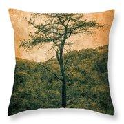 Knarly Tree Throw Pillow