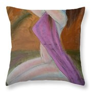 Kneeling Lady  Throw Pillow