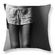 Knees Throw Pillow