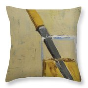 Knife In Glass - After Diebenkorn Throw Pillow