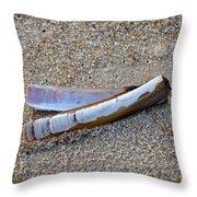 Knife Shell Throw Pillow