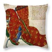 Knight, 14th Century Throw Pillow