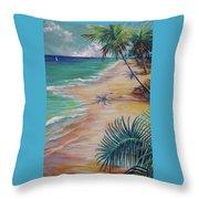 Knight Beach Throw Pillow