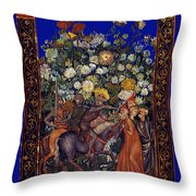 Knight Blossoms Throw Pillow