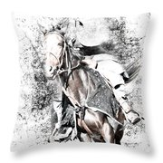 Knight In Armor Throw Pillow
