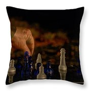 Knight Moves Throw Pillow
