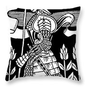 Knight Of Arthur, Preparing To Go Into Battle Throw Pillow