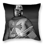 Knight Templar Throw Pillow