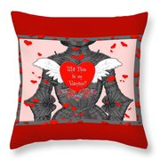 Knight Valentine Throw Pillow