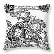 Knights: English, 1527 Throw Pillow