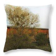 Knights Ferry Wooden Bridge - California Throw Pillow