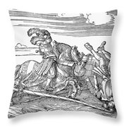 Knights: Jousting, 1517 Throw Pillow