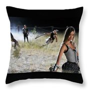 Knights Of Badassdom Throw Pillow