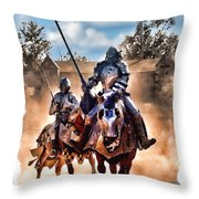 Knights Of Yore Throw Pillow