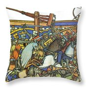 Knights Templar 13th Century Throw Pillow