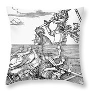 Knights: Tournament, 1517 Throw Pillow