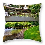 Knisley Covered Bridge #6 Throw Pillow