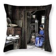 Knitting Room Throw Pillow