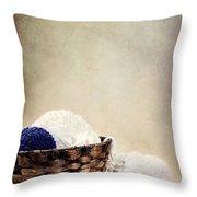 Knitting Supplies Throw Pillow by Stephanie Frey