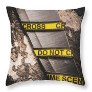 Knives And Clues Throw Pillow