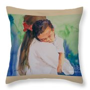 Knocked Out Throw Pillow