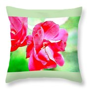 Knockout Watercolor Throw Pillow