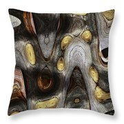 Knot In Old Board Abstract Throw Pillow