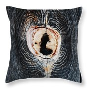 Knot In The Board Throw Pillow